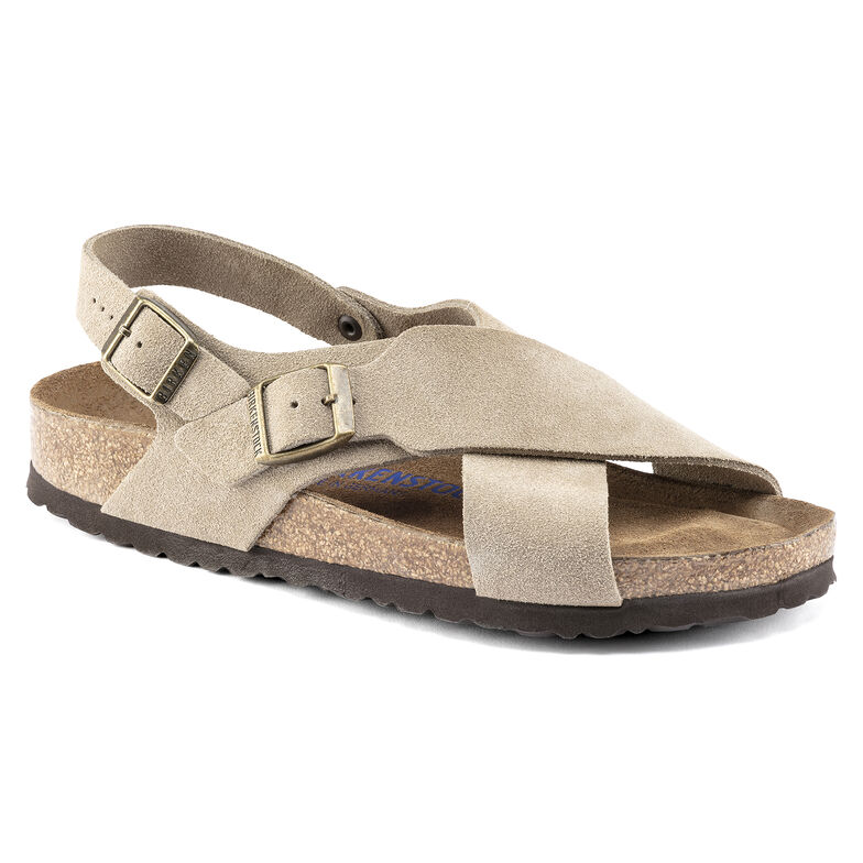 Tulum Suede Leather Taupe
