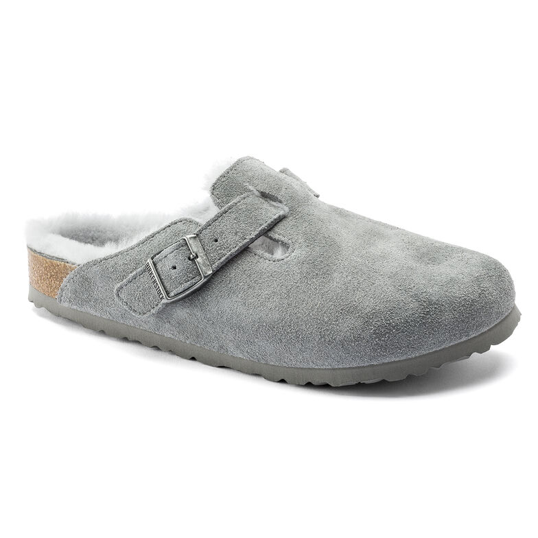 Boston Suede Leather Gray