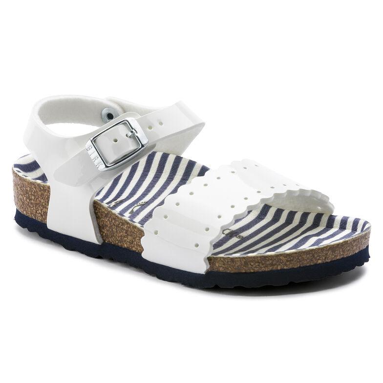 Mila Birko-Flor Nautical Stripes White