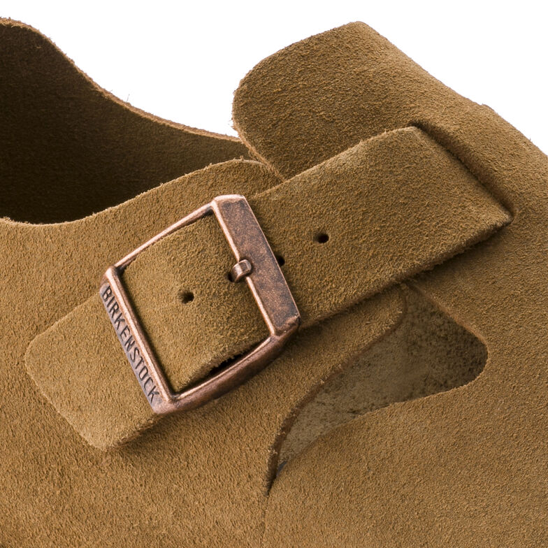 London Suede Leather Dunkelbraun