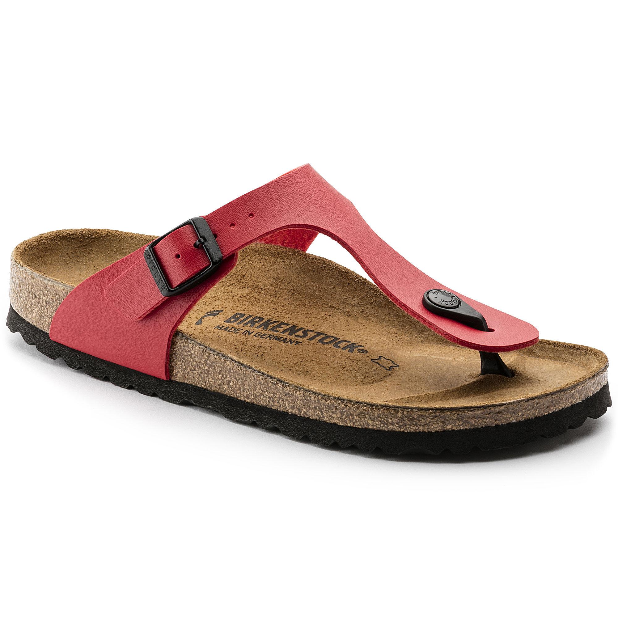 Newest Birkenstock Gizeh Flor W Pink Womens Flip Flops Outlet UK1069