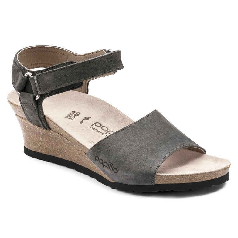 Eve Suede Leather/Stretch Smooth Anthracite