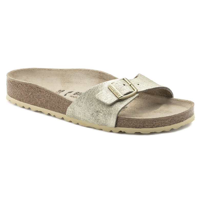 madrid suede leather washed metallic cream gold birkenstock. Black Bedroom Furniture Sets. Home Design Ideas