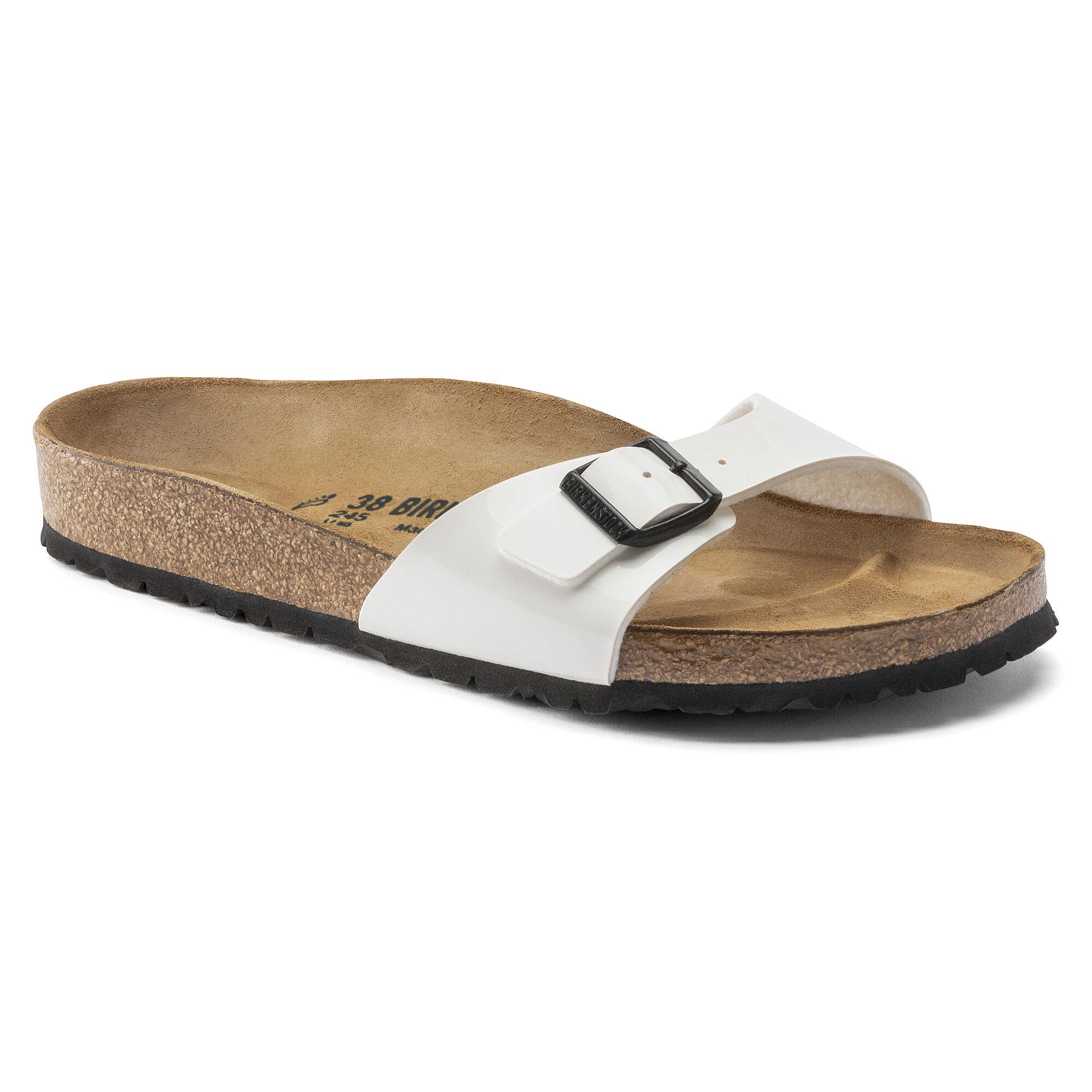 Chaussures Birkenstock Madrid Patent White OW9nyBMvsI