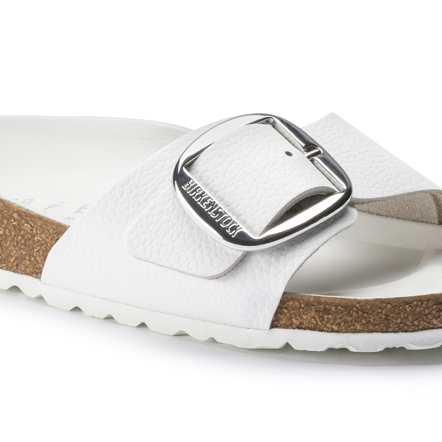 Madrid Big Buckle Natural Leather