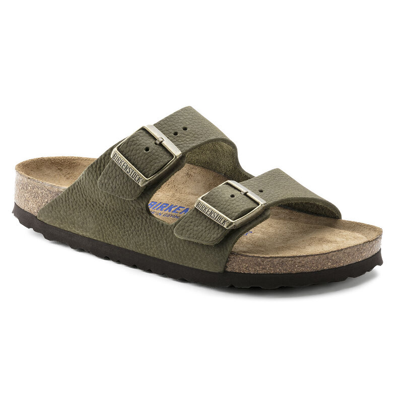Arizona Nubuck Leather Steer Khaki