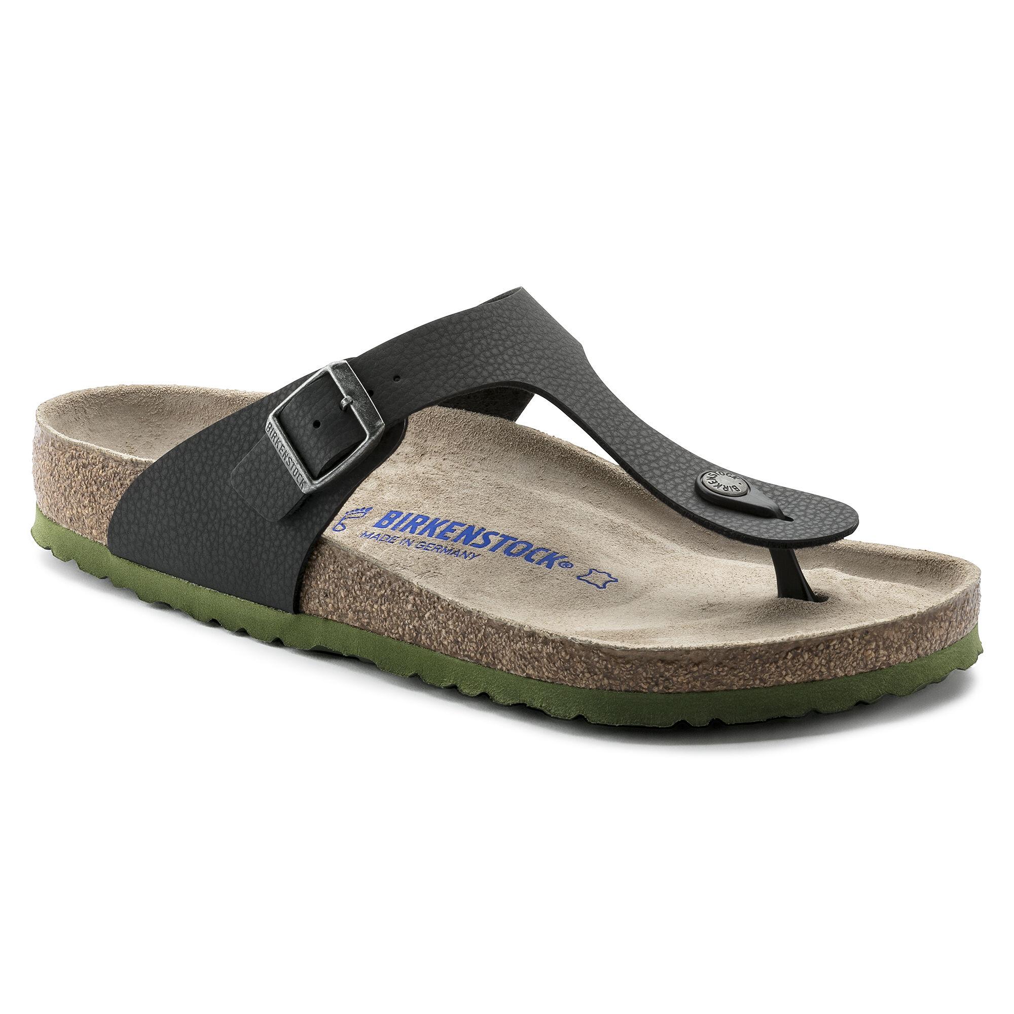 Birkenstock GIZEH - T-bar sandals - desert soil/green ptff4
