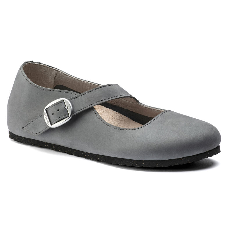 Tracy Nubuck Leather Gray
