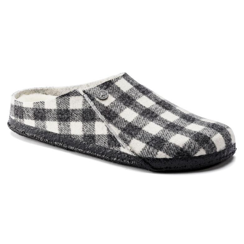 Zermatt Wool Felt Plaid White