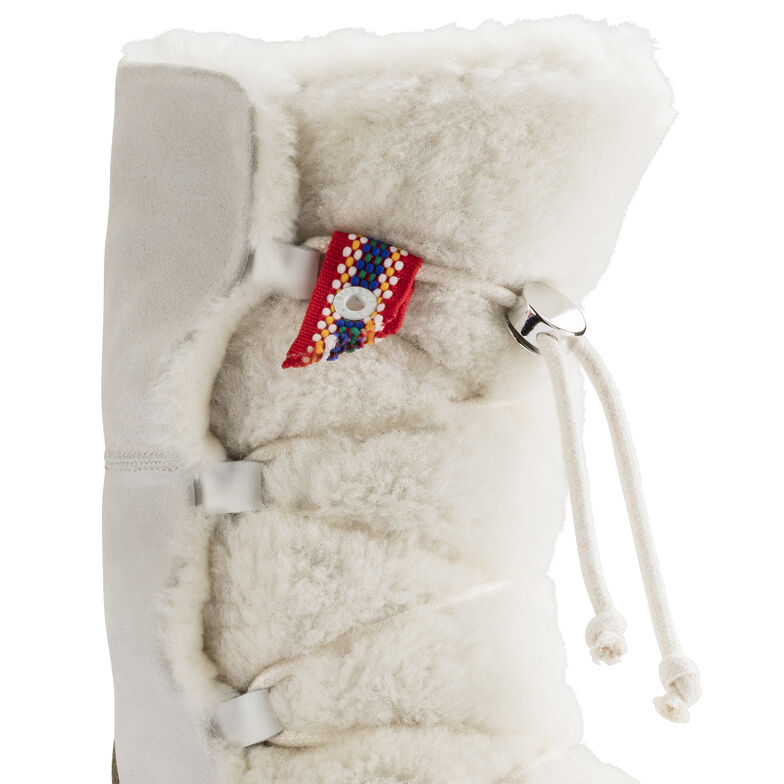 Nuuk Suede Leather/Fur Off White