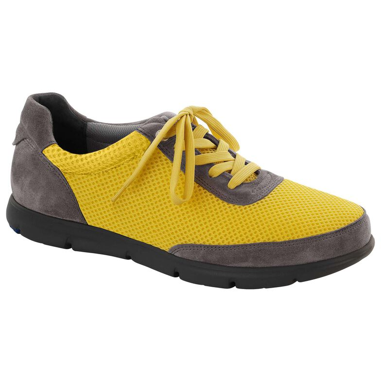 Illinois Suede Leather/Textile Yellow/Gray