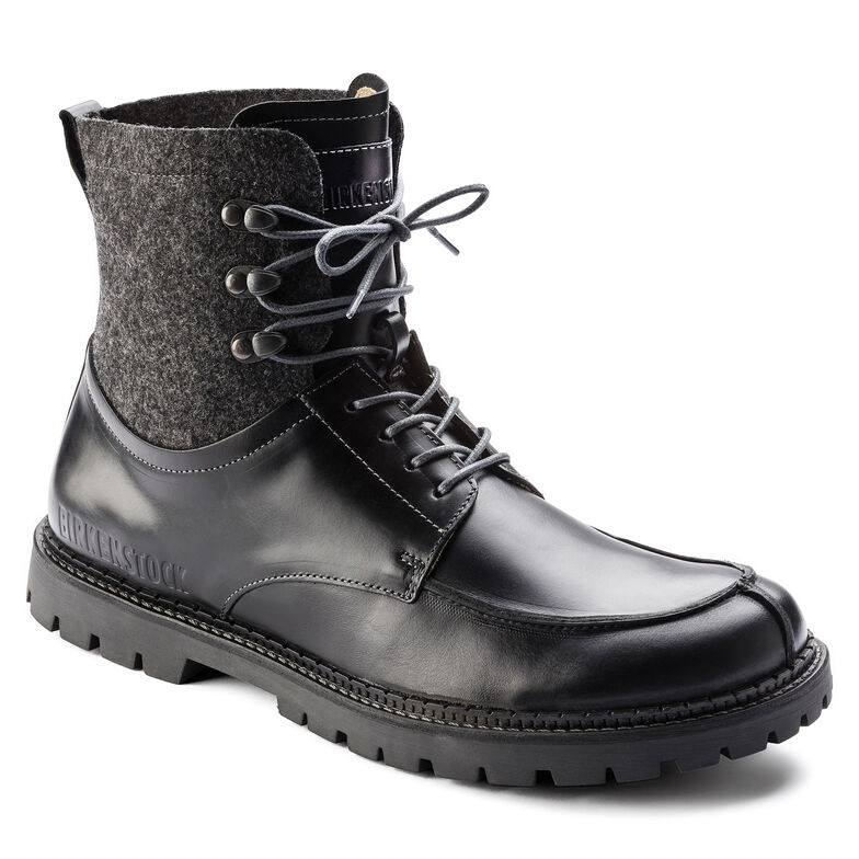 Timmins Natural Leather Black