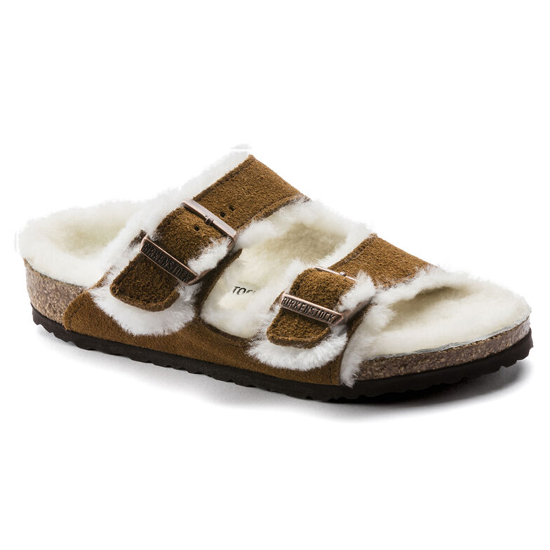 Arizona Shearling Kids Suede Leather Mink