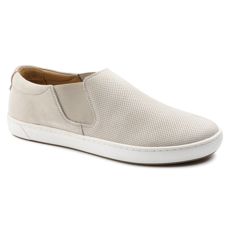 Barrie Nubuck Leather Off White