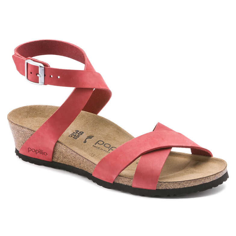 Lola Nubuck Leather Coral