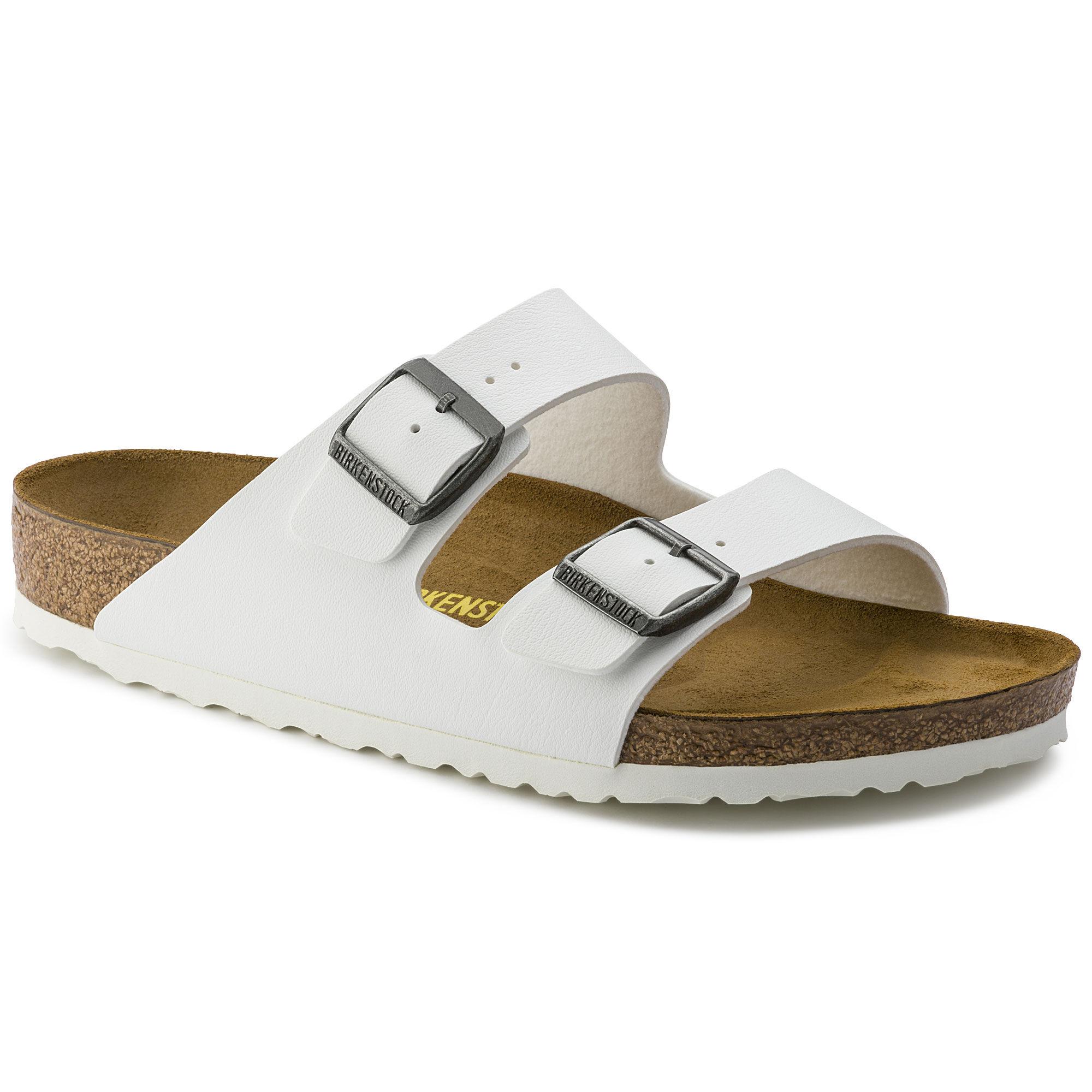 Mens Arizona White Birko-Flor Sandals 41 EU