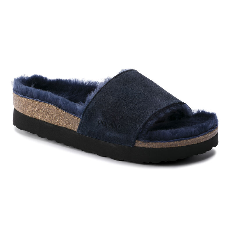 Cora Suede Leather Navy