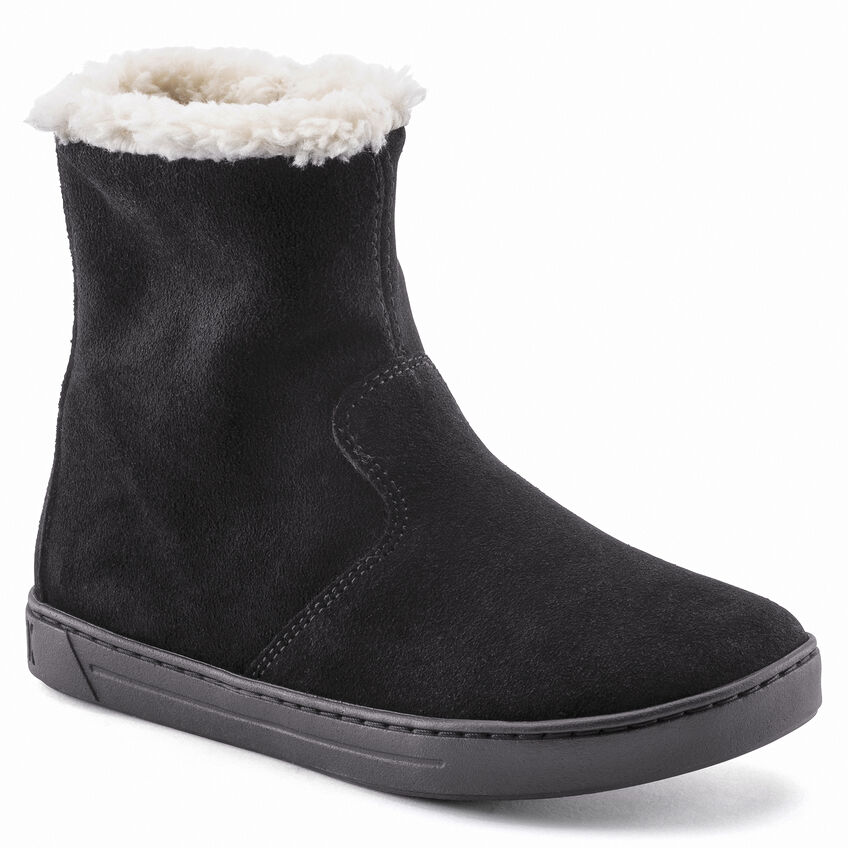 Lille Kids Suede Leather Black