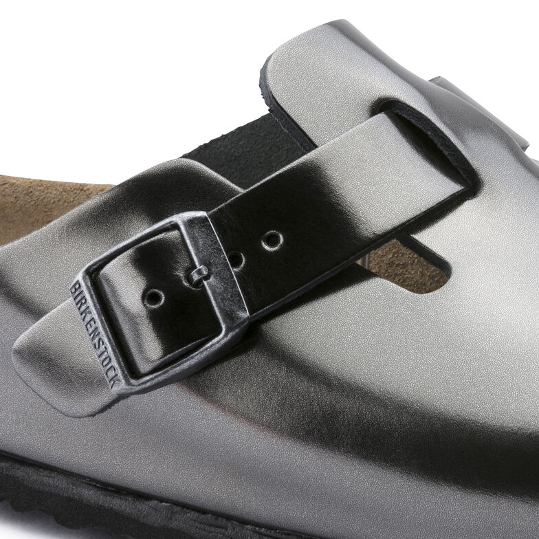 Boston Natural Leather Metallic Anthracite
