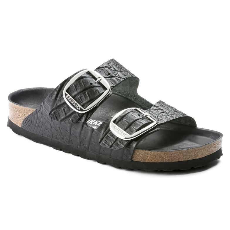Arizona Embossed Natural Leather Gator Anthracite