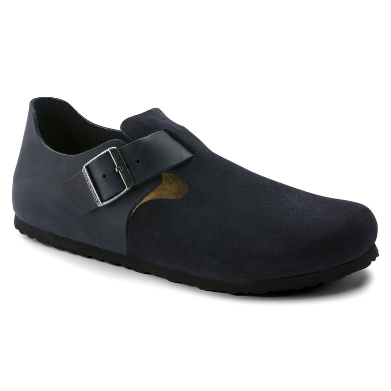 London Oiled Leather/Suede Leather Night Blue