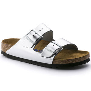 e4b7cbf0de0c Arizona Natural Leather. Arizona Soft Footbed. Leather. Metallic Silver