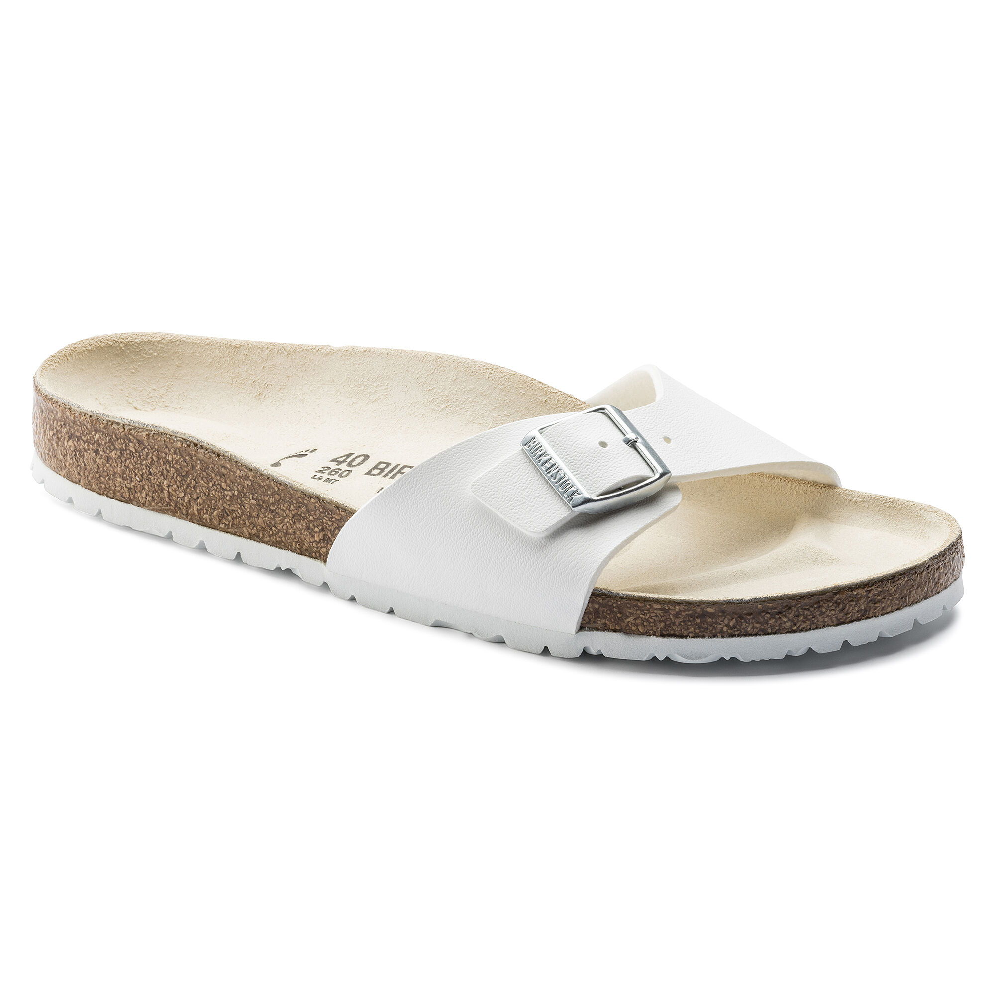 Newest Birkenstock Madrid Flor W White Womens Mules & Clogs Outlet UK1101