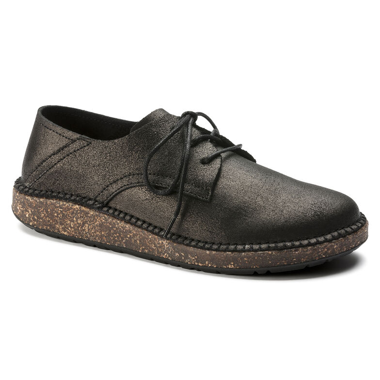 Gary Suede Leather Metallic Anthracite