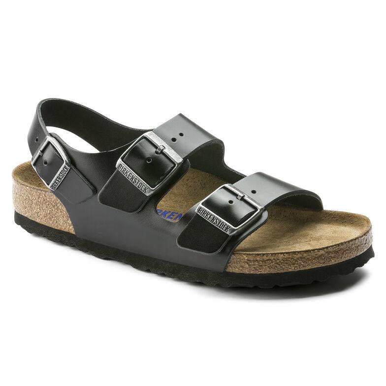 Milano Real Leather Soft footbed Amalfi Black