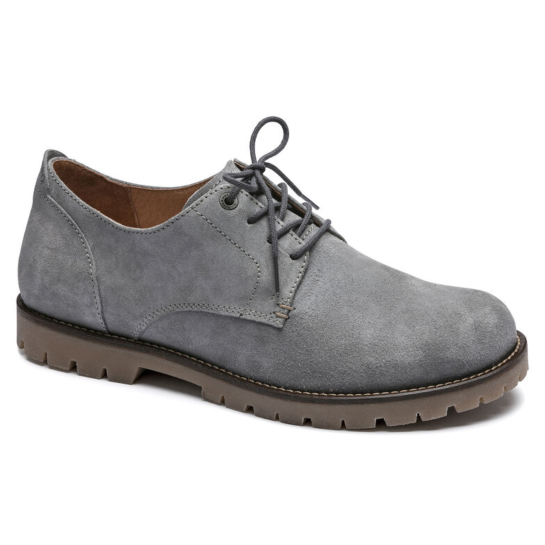 Gilford Suede Leather Light Grey