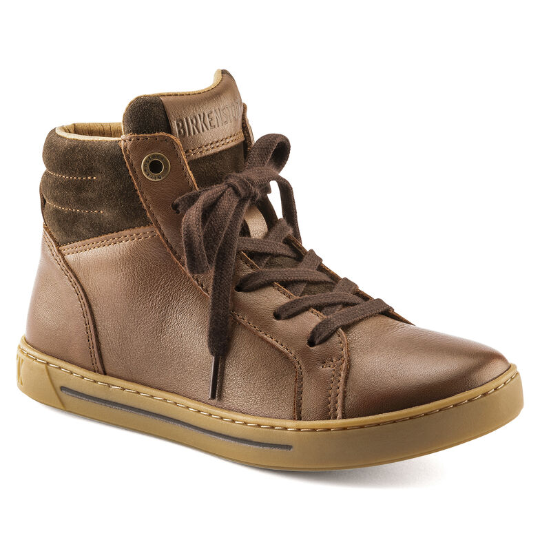 Porto Mid Kids Natural Leather Brown
