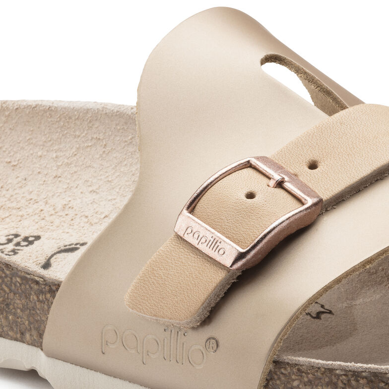 Carmen Natural Leather Frosted Metallic Rose