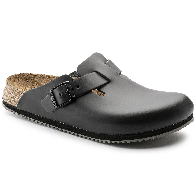Boston Natural Leather Black | shop online at BIRKENSTOCK