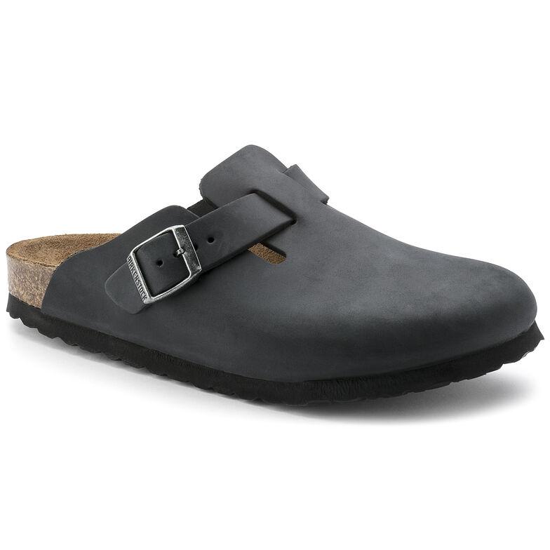 Boston Oiled Leather Black