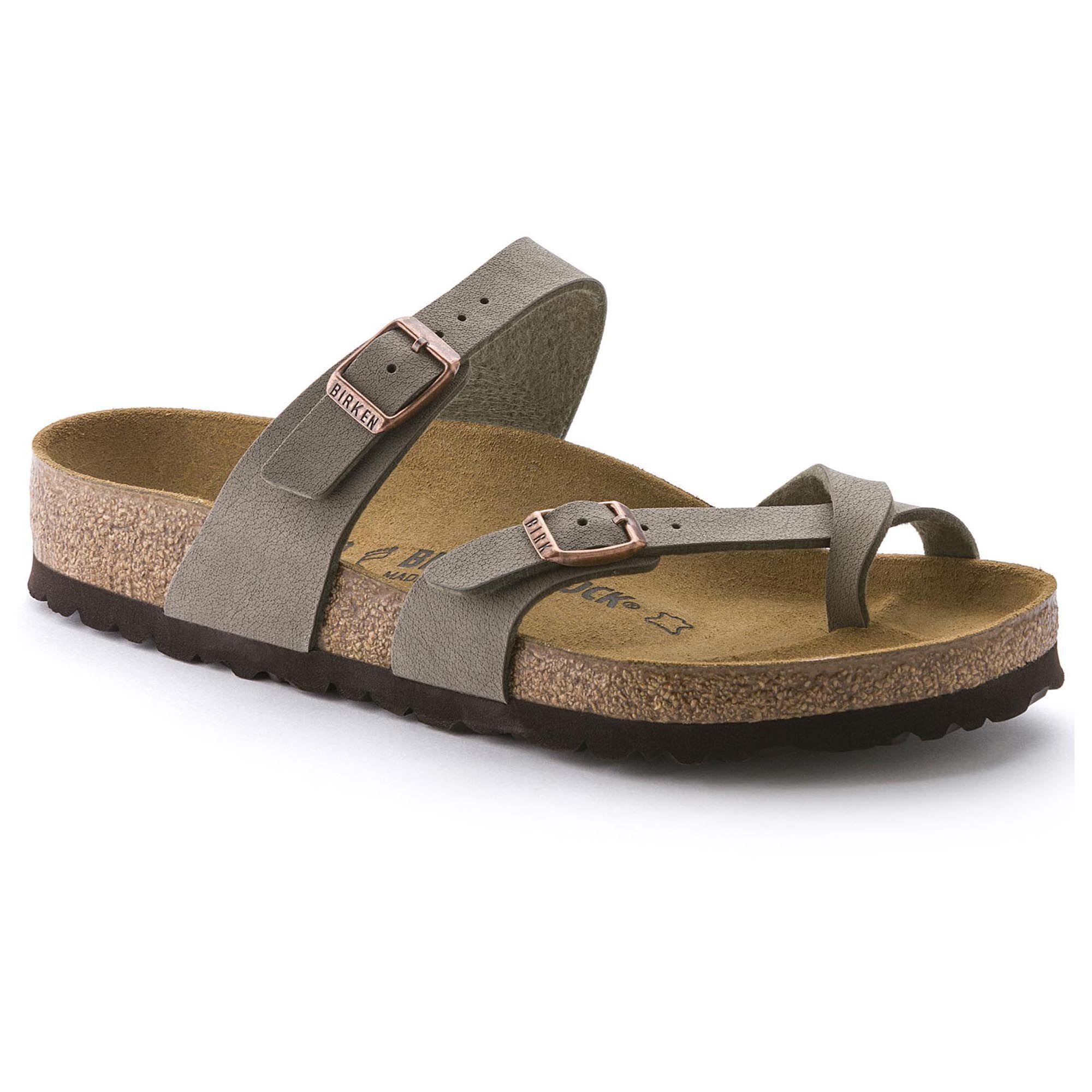 Mens Arizona SFB Open Toe Sandals, Green Birkenstock
