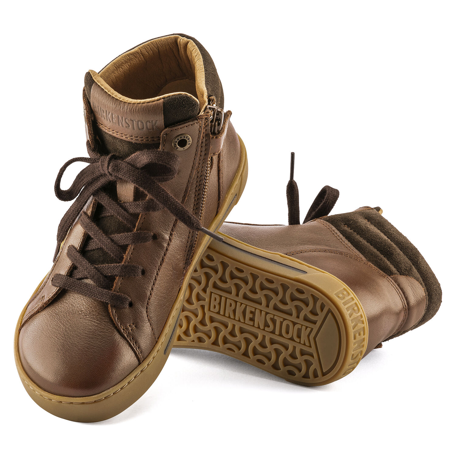 Porto Mid Kids Natural Leather