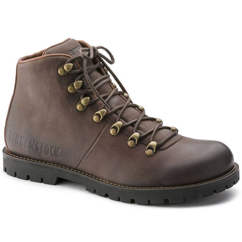 Hancock Nubuck Leather Dark Brown