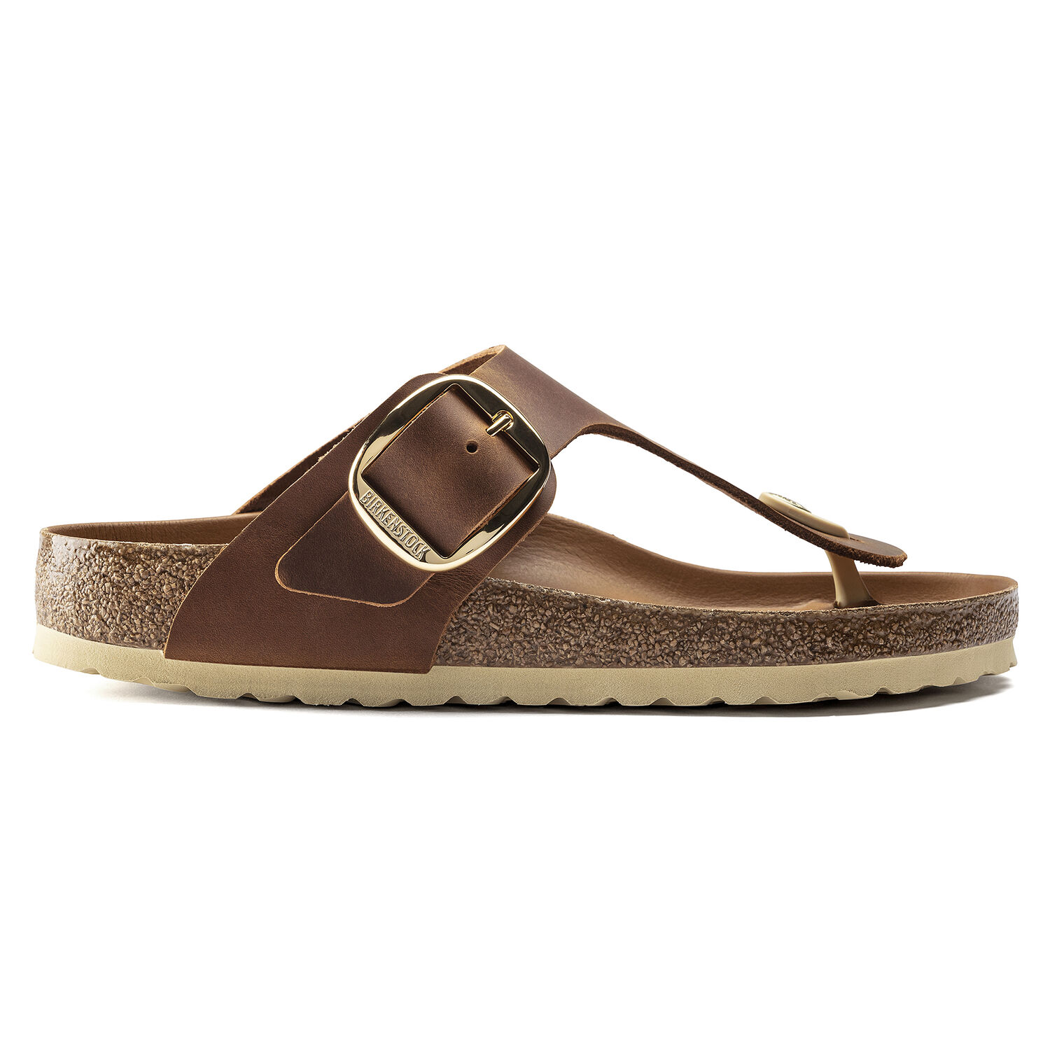Gizeh Big Buckle Natural Leather