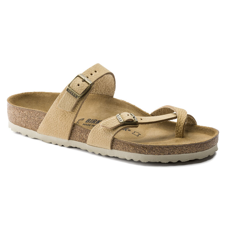 Mayari Nubuck Leather Steer Soft Sand