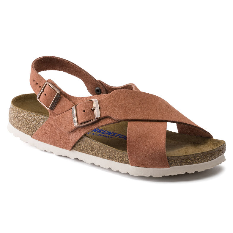 Tulum Suede Leather Earth Red