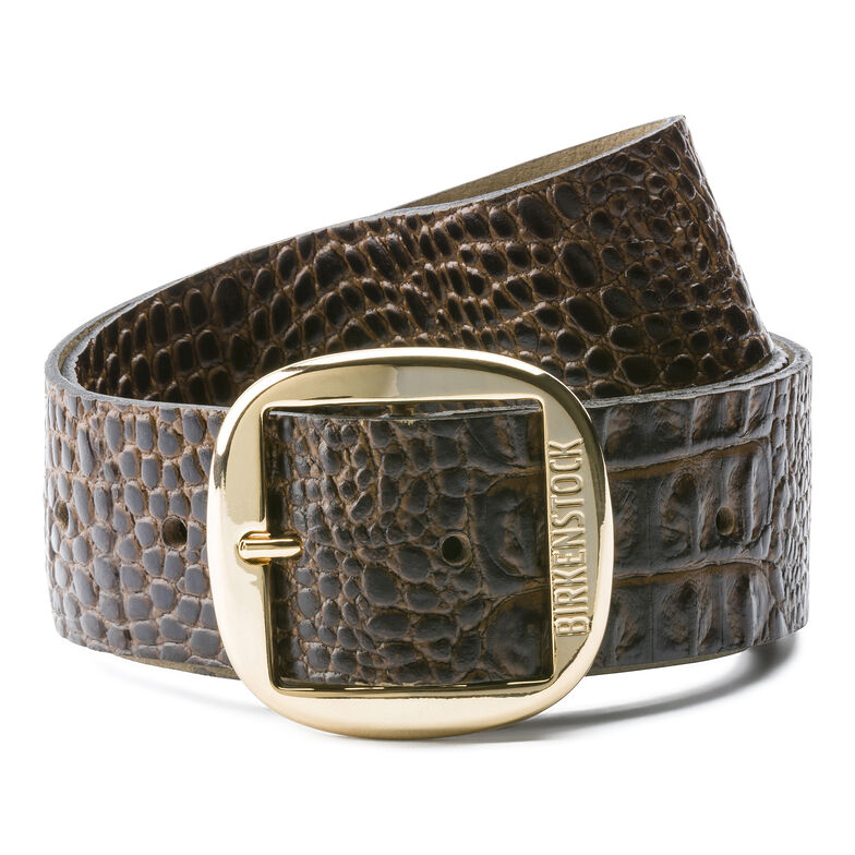 Knoxville Embossed Leather Gator Brown