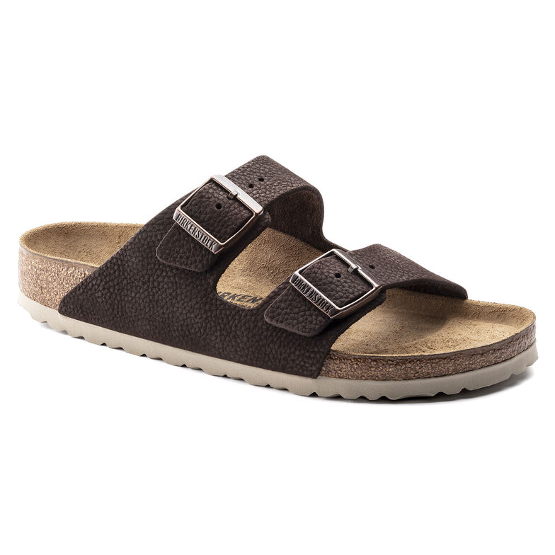 Arizona Nubuck Leather Steer Soft Brown