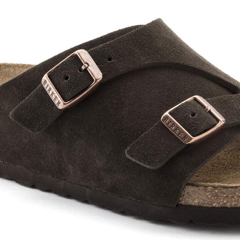 Zürich Suede Leather Soft Footbed Mocha
