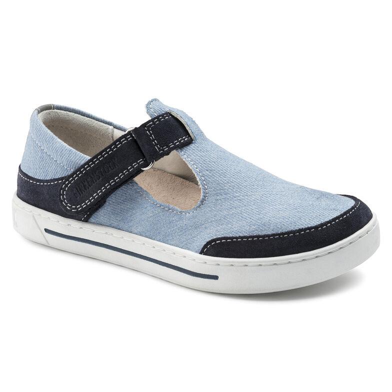 Abilene Suede Leather/Textile Grey-blue/Indigo