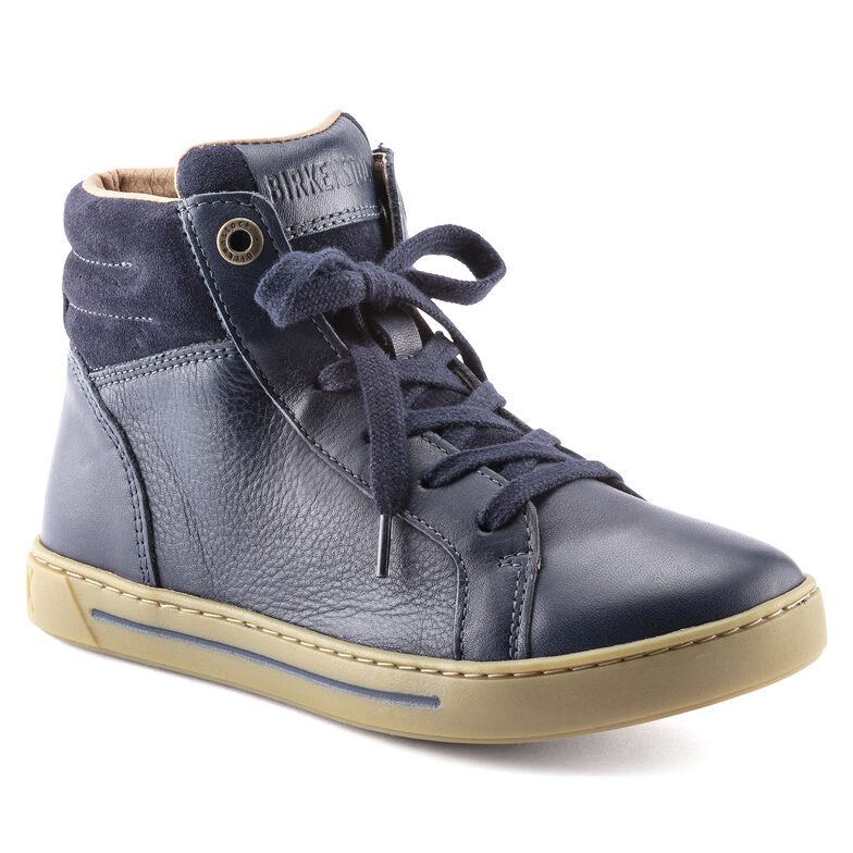 Porto Mid Kids Natural Leather Navy