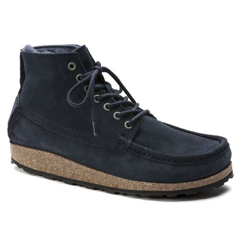 Marton Suede Leather Shearling Navy