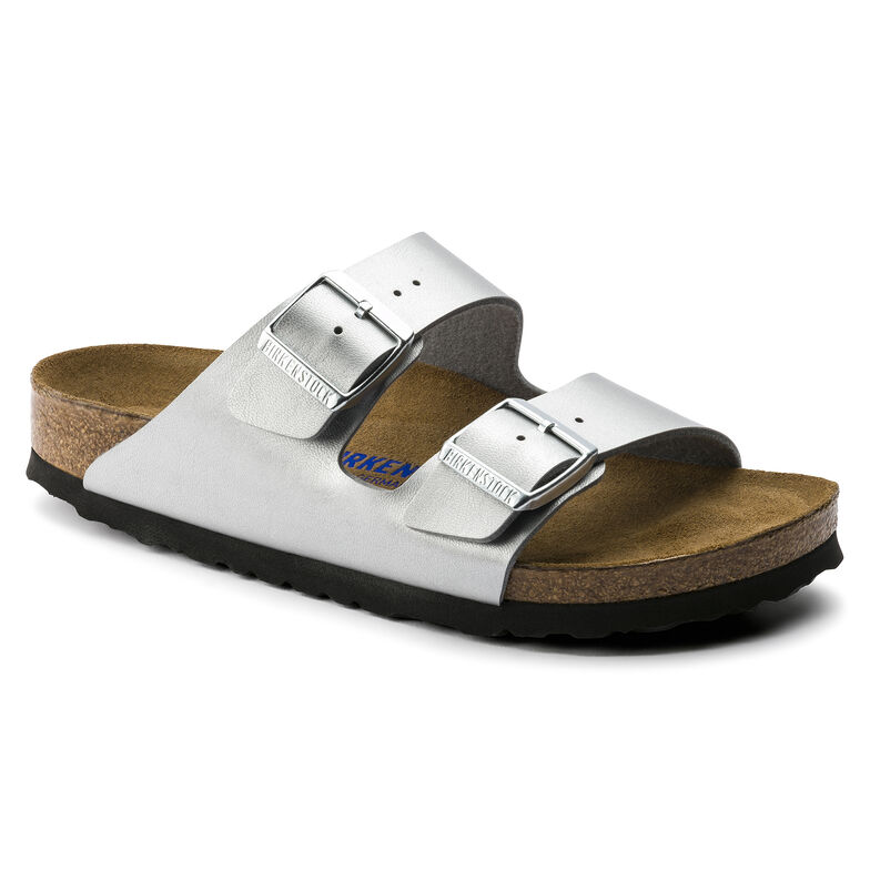 Arizona Birko-Flor Soft Footbed Silver