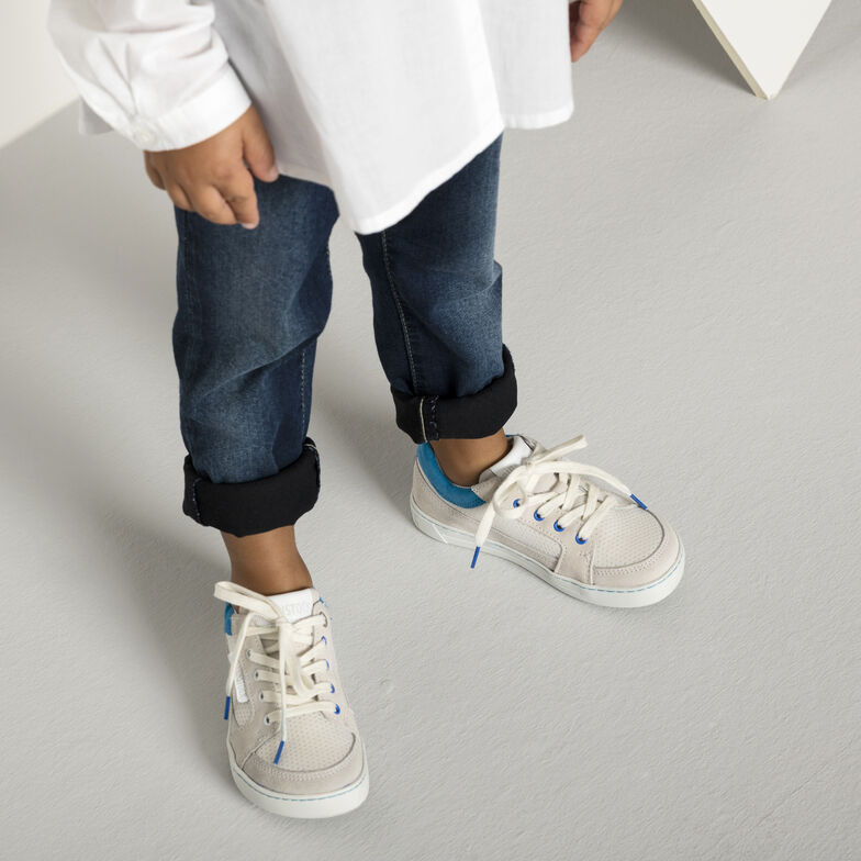 Astee Suede Leather/Textile Off White