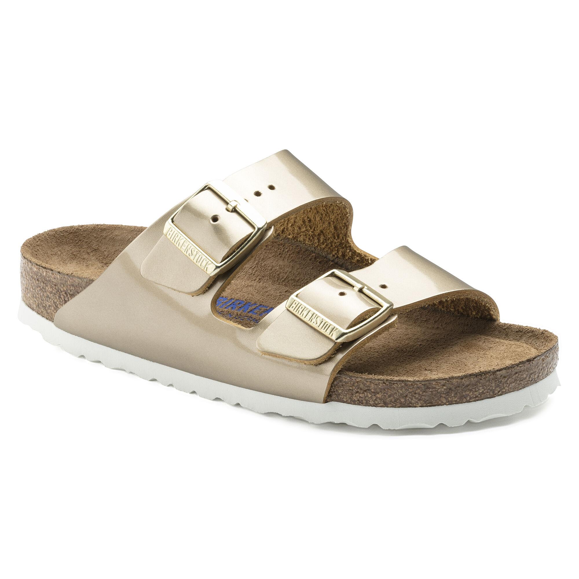 Birkenstock Arizona Spectacular Platinum Soft Footbed Sandal eg2Tph