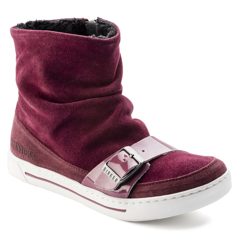 Ballina Suede Leather Plum